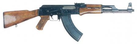 Early production / issue Kalashnikov AK rifle, as manufactured between 1949 and 1951, with stamped receiver and early type slab-sided magazine