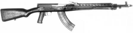 Tokarev 7.62x41 experimental assault rifle, as tested in late 1945