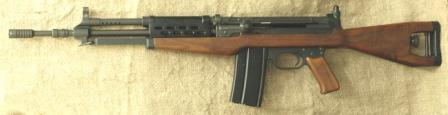 Madsen light automatic rifle LAR M/62, caliber 7.62x51 NATO, fixed butt