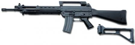 Beretta AR 70/90 assault rifle.Installation of the folding stock, shown below the rifle, will convert it into SC-70/90 carbine configuration