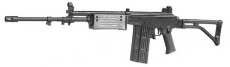 Galil AR 7.62mm. Note the longer barrel and deeper magazine
