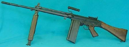 Canadian C2 Squad Automatic Weapon - a heavy barreled version of FAL, intended as Light Machine Gun