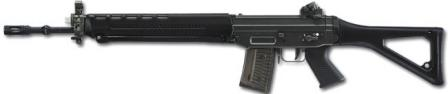 SIG SG 550 / Stgw.90 assaultrifle, left side view