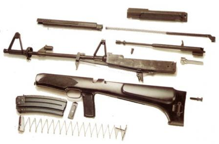 Valmet Model 82 rifle, partially disassembled
