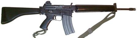 Original AR-18 assault rifle, made by the Sterling Armaments of UK