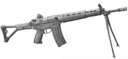Type 89 assault rifle with folding buttstock