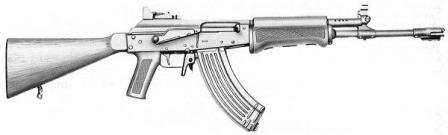 Valmet Rk.76W (wooden buttstock) in 7.62x39mm