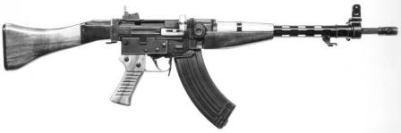 Semi-experimental 7.62x39SIG 510-3 assault rifle as made for Finnish army assault rifle trialsin late 1950s