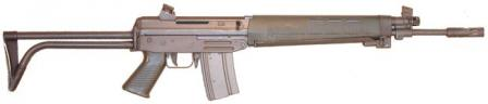 5.56mm SIG-Manurhin SG-540 assault rifle as made in France under license, with side-folding butt