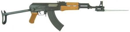 Type 56-1 assault rifle with bottom-folding stock and bayonet in opened (combat)position