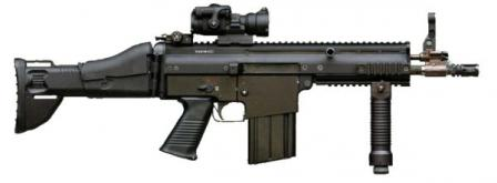 FN SCAR-H / Mk.17 rifle prototype in CQC (Close Quarter Combat,short barrel) configuration,7.62x51 mm NATO version