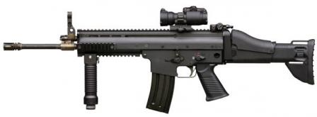 FN SCAR-L / Mk.16 rifle prototype (1s generation, late 2004), left side view