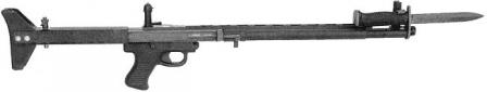 TRW LMR (Low Maintenance Rifle) in its final shape, right side, with attached M6 bayonet