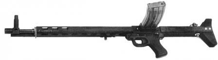 TRW LMR (Low Maintenance Rifle) in its final shape, left side, with 30-round magazine attached