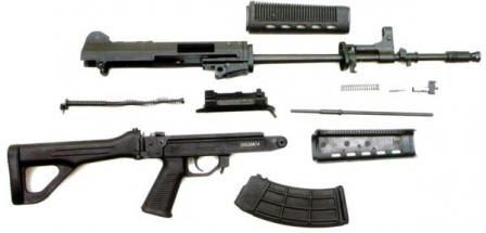 Type 03 (QBZ-03) assault rifle, partially disassembled