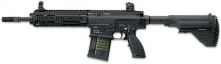 Current (2008) version of HK417 rifle with 12 inch / 30cm barrel, basic version