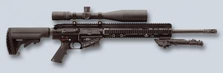 2006 prototype of HK417 rifle with 20 inch barrel; note that it used HK G3-compatible magazines