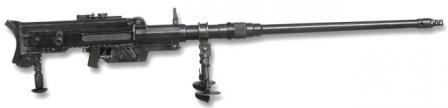 Solothurn S18-1100 anti-tank rifle; it was externally similar to the S18-1000, and the main difference was the select-fire capability of the S18-1100.