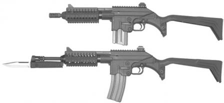 Kel-tec SU-16D short-barreled rifles with 10- and 16-inch barrels.