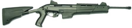 Beretta RX4 Storm rifle (pre-production version) with 10-round magazine, right side. Retractable butt extended.