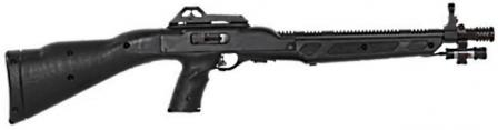 Hi-Point model 995 carbine, with optional muzzle brake and laser aiming module.