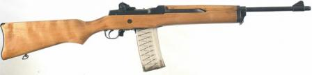 Ruger Mini-14 rifle, original version (1980's production) with aftermarket 30-round magazine.