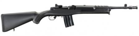 Ruger Mini-14 Tactical rifle with fixed polymer stock.
