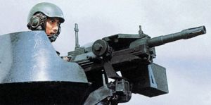 40mm CIS 40GL automatic grenade launcher, made in Singapore; it is installed on some infantry combat vehicle