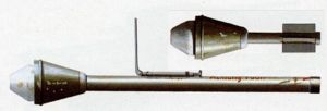 German Panzerfaust grenade launcher of WW2 era.