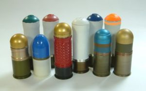 A variety of 40mm grenades for NATO-standard grenade launchers.
