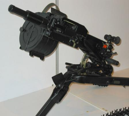 AGS-17 grenade launcher, close-up view.