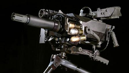 Mk.47 mod.0 automatic grenade launcher, close-up view.