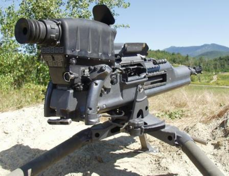 XM307 ACSW grenade launcher, rear view.