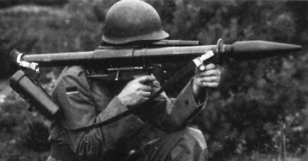 German soldier prepares to fire Pzf 44.