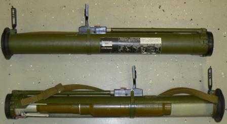 RShG-2 rocket-propelled assault grenade (at the bottom the container is cut out to show the rocket and its warhead).