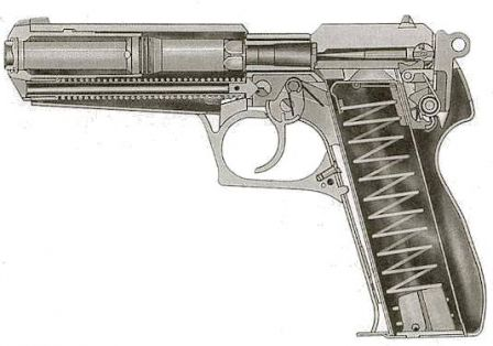 Steyr GB - cut-out drawing.
