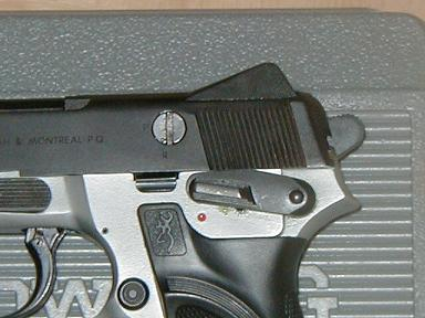 Browning BDM, view on DA / DAO ( P / R ) trigger mode selector.