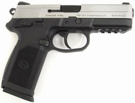 FNP 45 pistol, right side.