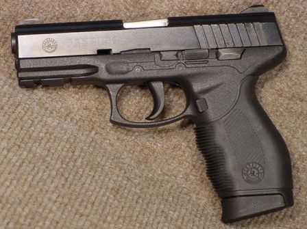 Taurus 24/7 pistol, left side.