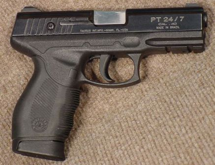 Same Taurus 24/7 pistol, right side.