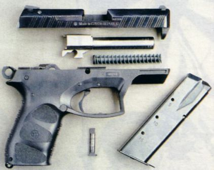CZ-G 2000 pistol, partially disassembled
