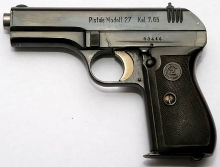 CZ 27 pistol made under German occupation, bearing typical German designations