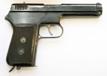 CZ Vz.38 pistol, right side