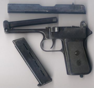 CZ Vz.38 pistol, partially disassembled