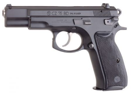 CZ 75BD pistol, with decocker lever instead of the safety