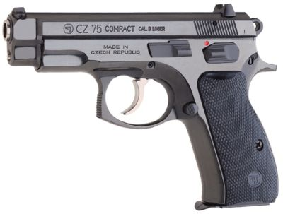 CZ 75B Compact, with shortened barrel, slide and grip