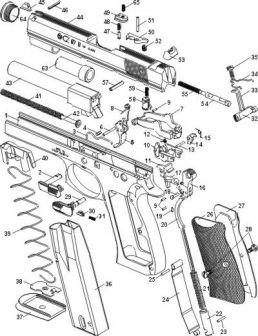 CZ97B parçalar şeması