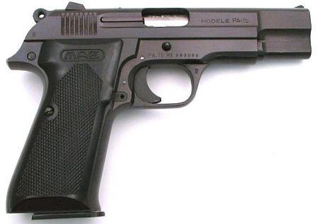 MAB PA-15 tabanca, sağ taraf
