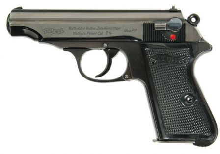 Rare pre-WW2 variation of Walther PP with bottom-mounted magazine release.