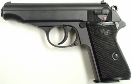 A typical prewar Walther PP pistol.